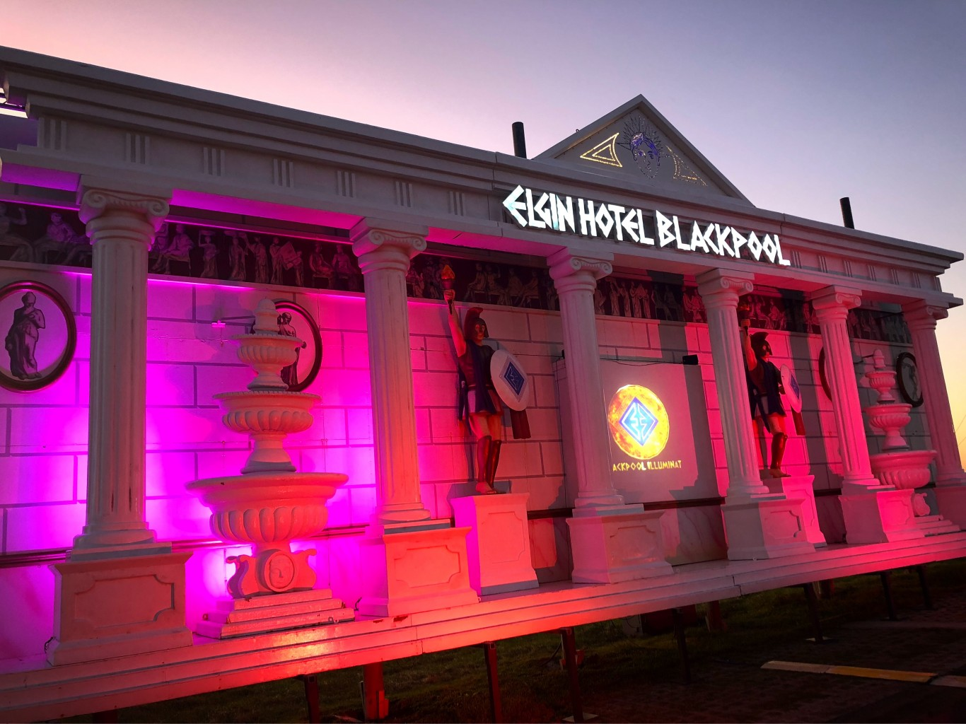 Blackpool Illuminations Switch On Elgin Hotel